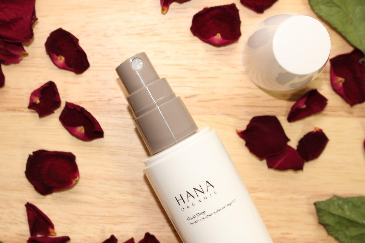 プラセンタ配合 美白化粧水 ローズウォーター 敏感肌 オーガニック化粧水 HANAオーガニック フローラルドロップ